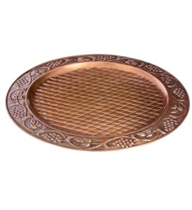 Antique Copper Charger Plate - 13 Inch Diameter Image