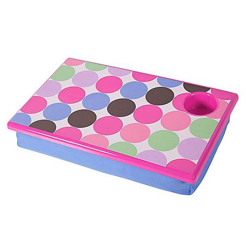 Captivating Bean Bag Lap Desk   Polka Dot Image