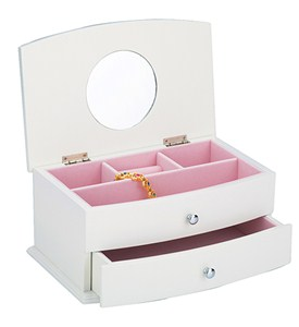 Girls Jewelry Chest - White Image