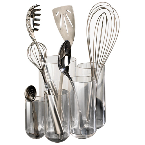Acrylic kitchen utensil holder in kitchen utensil holders workwithnaturefo