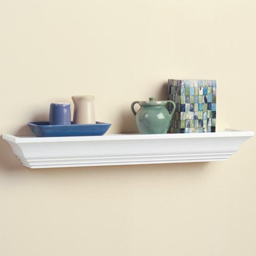 wood ledge shelf 24 inch in wall mounted shelves. Black Bedroom Furniture Sets. Home Design Ideas