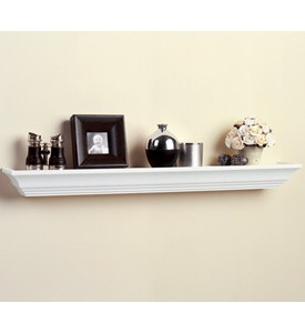 Wood Ledge Shelf 36 Inch In Wall Mounted Shelves