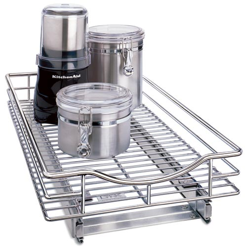 Deep Chrome Roll Out Cabinet Organizer 11 Inch In Pull