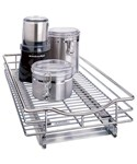Deep Chrome Roll-Out Cabinet Organizer - 11 Inch