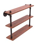 22 Inch Pipeline 3-Tier Bathroom Shelf