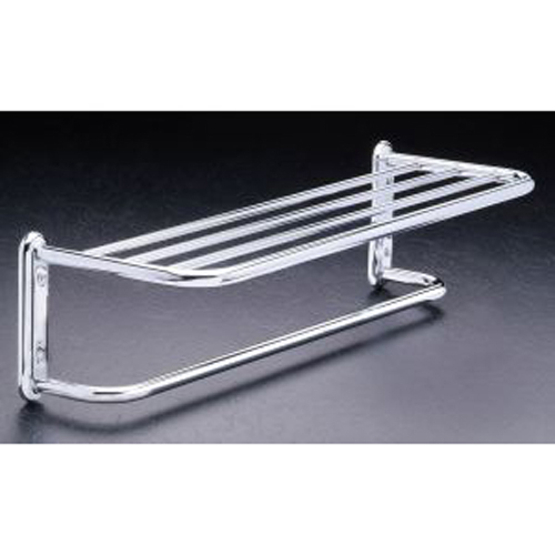 Hotel Style Towel Shelf And Rack Chrome In Wall Towel Racks