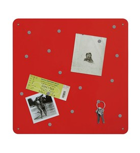 Red Magnetic Bulletin Board Image
