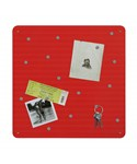 Red Magnetic Bulletin Board