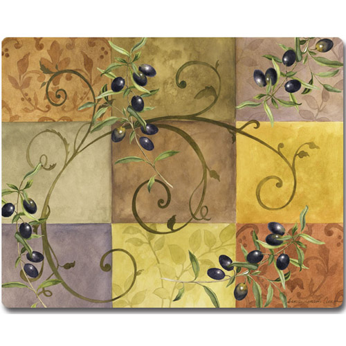 Tempered glass cutting board tuscan olives in cutting boards - Decorative tempered glass cutting boards ...