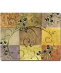 Tempered Glass Cutting Board - Tuscan Olives
