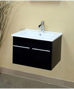 23.6 Inch Modern Bar Pull Floating Single Wall Mount Style Sink Vanity by Bellaterra Home