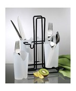 Frosted White Flatware Caddy