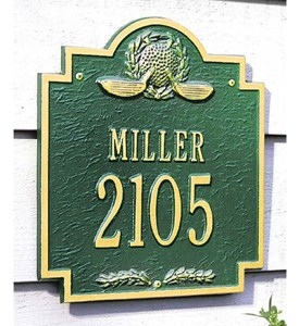 Golf Emblem Two-Line Plaque Image