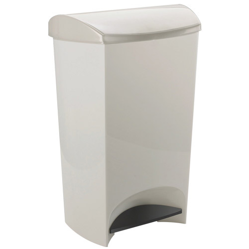 umbra plastic step trash can white in kitchen trash cans