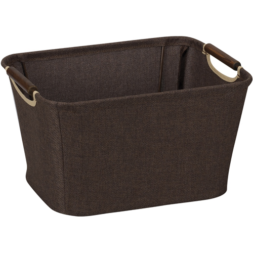 decorative storage basket with handles image - Decorative Storage Bins