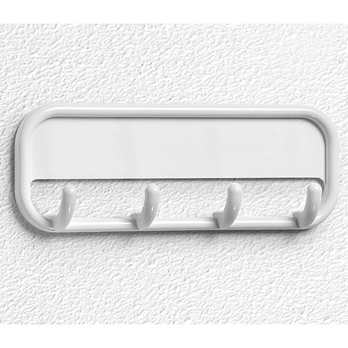 Adhesive four hook coat rack white in wall hooks for White wall hook rack