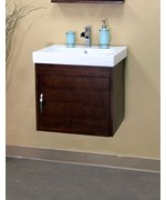 24.2 Inch Square Single Cabinet Sink Vanity Wood by Bellaterra Home