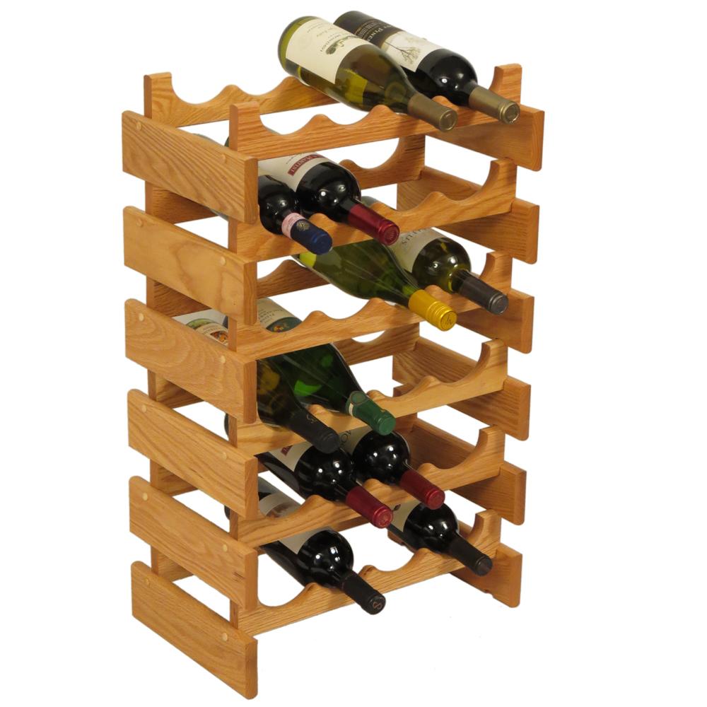24 bottle dakota wine rack by wooden mallet in wine racks