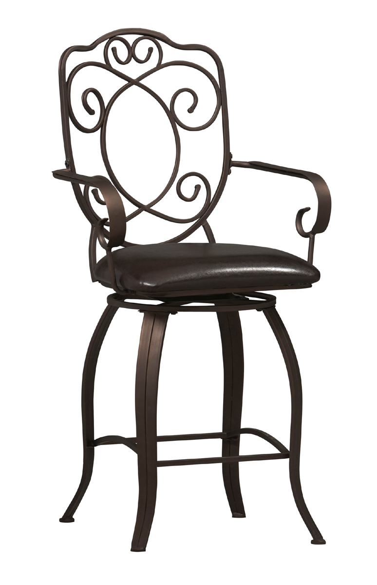 24 Inch Crested Back Counter Stool By Linon Home Decor In