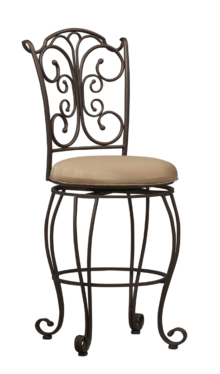 24 Inch Gathered Back Counter Stool By Linon Home Decor In