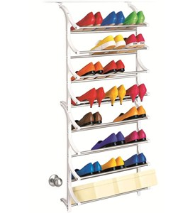 24 Pair Over Door Shoe Rack Image