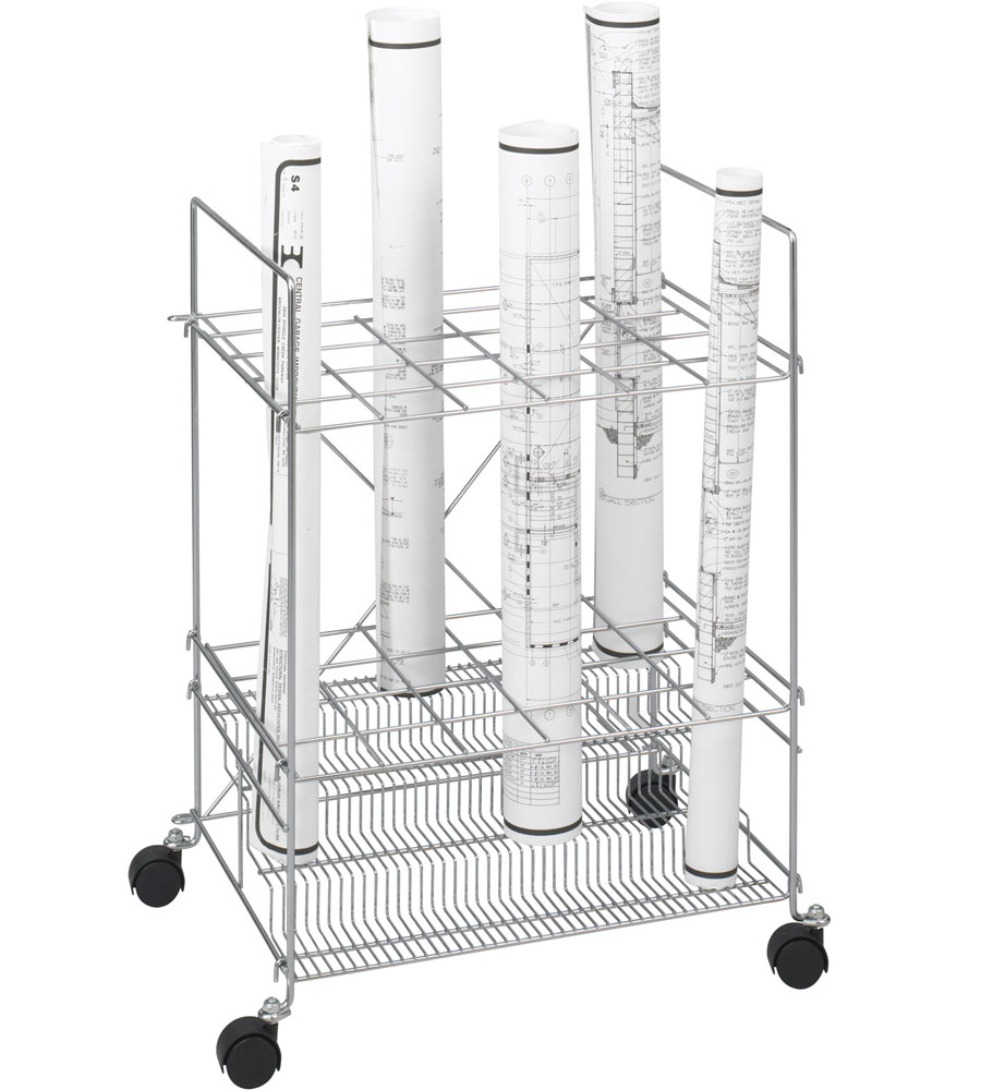 24 Section Blueprint Holder Rack In Blueprint Storage