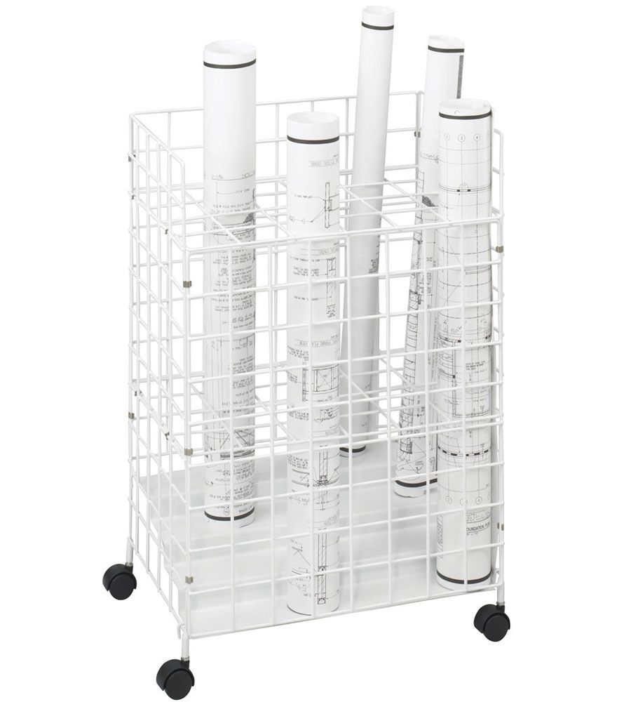 24 section blueprint storage rack in blueprint storage for Store blueprints