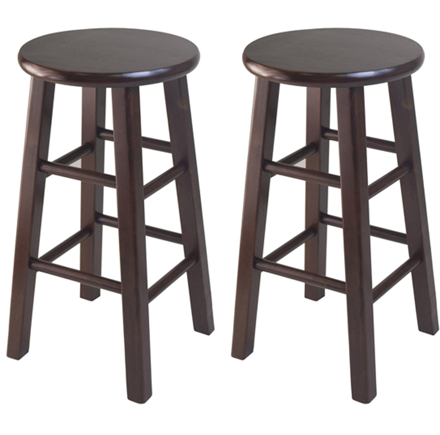 24 Inch Swivel Counter Stool Set Of Two By Winsome