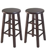 24 Inch Swivel Counter Stool Set of Two - by Winsome Trading
