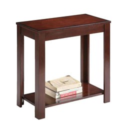 24 Inch End Table - Dark Cherry Image