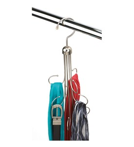 Hanging Belt and Tie Organizer Image