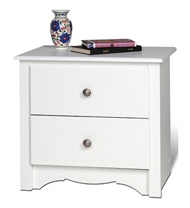 Monterey Two-Drawer Night Stand - White Image