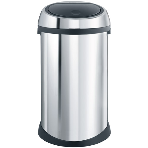 brabantia touch bin 50 l brilliant steel in stainless steel trash cans. Black Bedroom Furniture Sets. Home Design Ideas