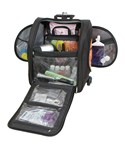 Rolling View-Thru Carry-On Bag - Black