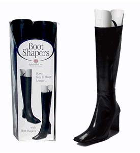 Plastic Boot Shapers and Hangers - Black Image