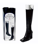 Plastic Boot Shapers and Hangers - Black