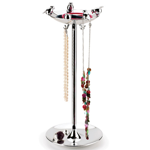 Bird Bath Jewelry Stand - Chrome Image