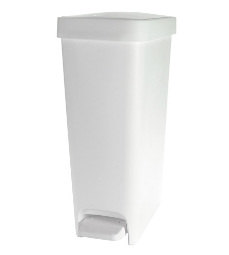 Oxo 10 1 2 gallon slim step trash can white in kitchen trash cans - Slim garbage cans for kitchen ...