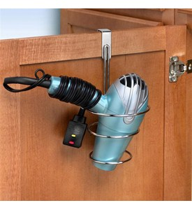 Over the Cabinet Blow Dryer Holder Image