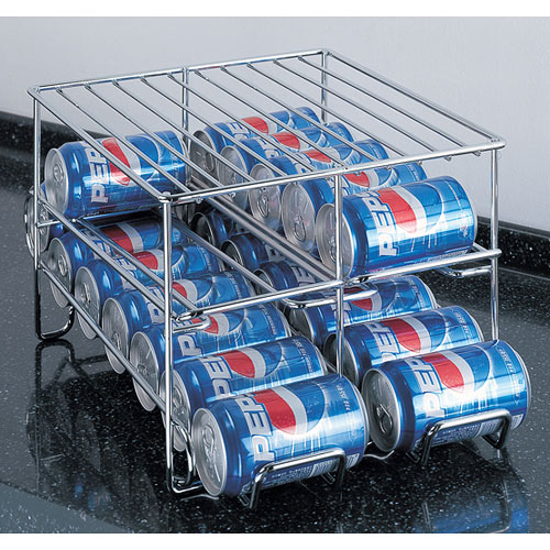Chrome Wire 24 Can Beverage Dispenser In Can Storage