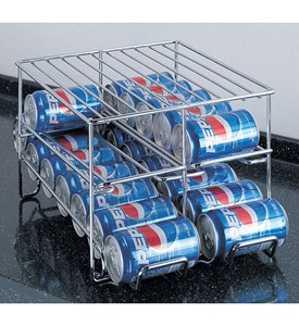 Chrome Wire 24-Can Beverage Dispenser Image