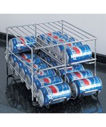 Chrome Wire 24-Can Beverage Dispenser