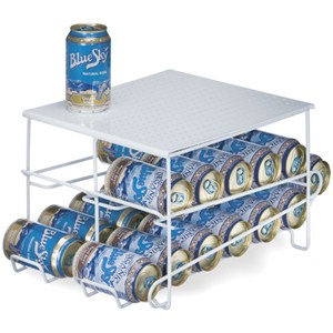White Wire 24-Can Beverage Dispenser Image