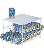 White Wire 24-Can Beverage Dispenser