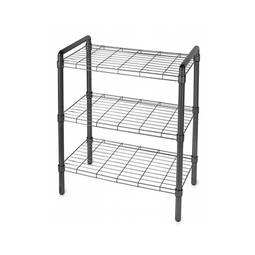 Black Wire Shelving Unit in Free Standing Shelves