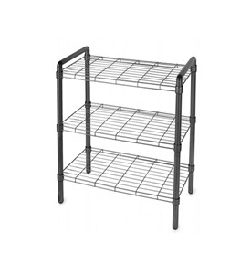 Black Wire Shelving Unit Image