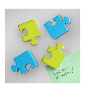 Refrigerator Magnets - Puzzle Pieces (Set of 4) Image