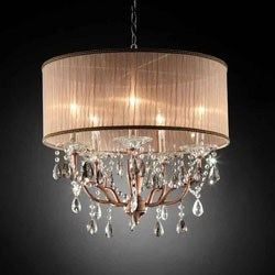 25 Inch H Rosie Crystal Ceiling Lamp by O.R.E. Image