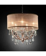 25 Inch H Rosie Crystal Ceiling Lamp by O.R.E.
