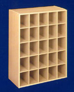 25 Pair Stackable Shoe Storage Cubby Image